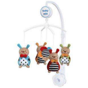 Baby Mix muzikālais karuselis ar plīša rotaļlietām