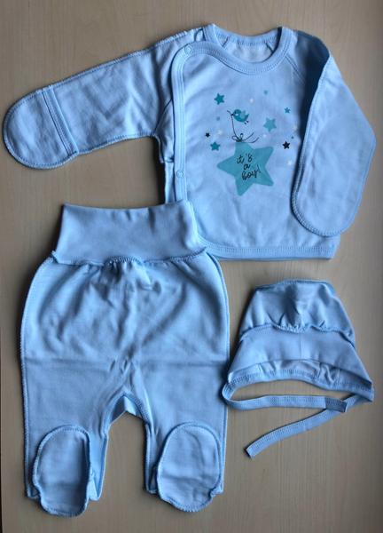 Komplekts mazulim no trīs daļām: 56, 62 izmērs