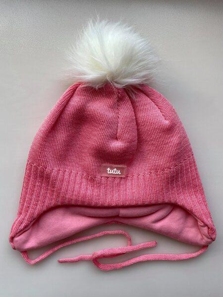 JAUNUMS! 3-005752 TuTu ZIEMAS merino vilnas cepure: 50-54 izmērs