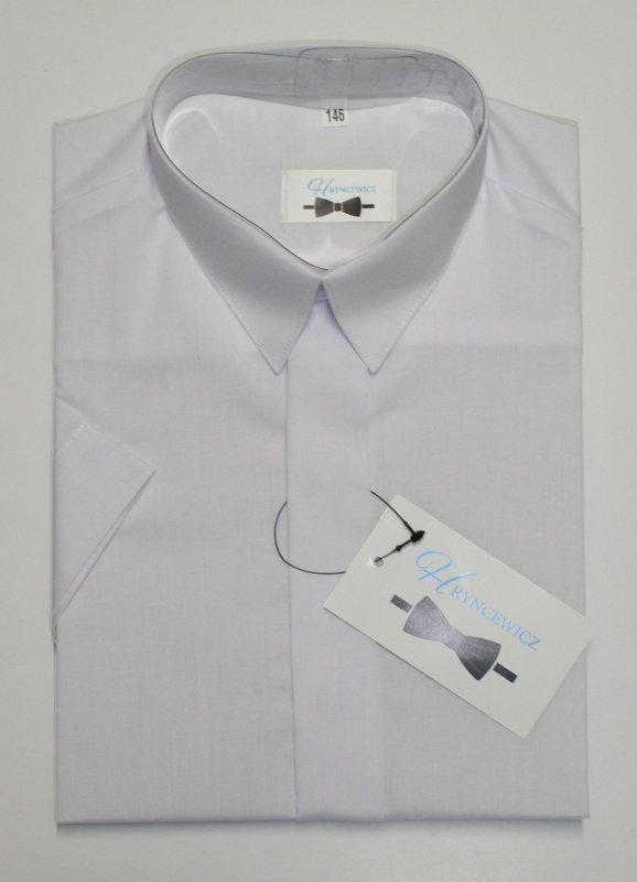 Klasisks balts krekls ar īsām piedurknēm: izmērs: no 62 līdz 170