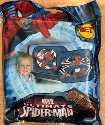 """Automašīnas saulessargs komplekts: 2gb. """"Spider Man"""""""