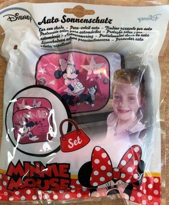 """Automašīnas saulessargs komplekts: 2gb. """"Pink Minnie"""""""