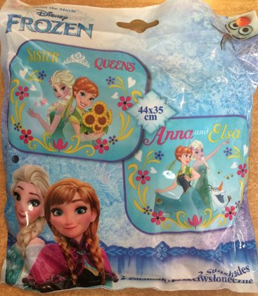 """Automašīnas saulessargs komplekts: 2gb. """"Frozen"""""""