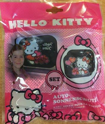 """Automašīnas saulessargs komplekts: 2gb. """"Hello Kitty"""""""