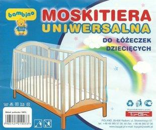 Universāls moskītu tīkls bērnu gultiņai Bambino