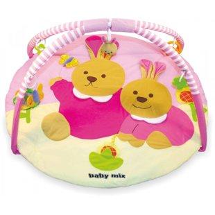 BabyMix Rabbit attīstošais paklājiņš
