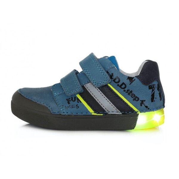 D.D.Step ādas apavi ar LED gaismiņām: 25, 26, 28, 29 izmērs