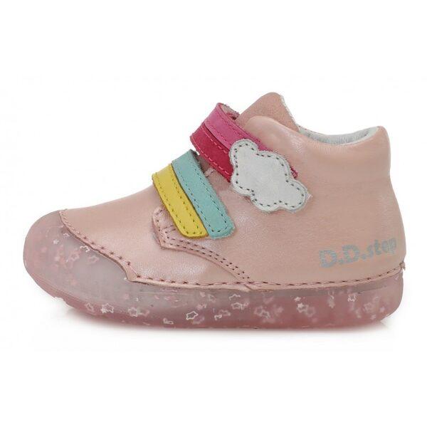 D.D.Step ādas apavi meitenēm Pavasarim: 21, 22, 23, 24 izmērs